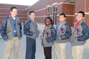 ROTC cadets receive letter jackets