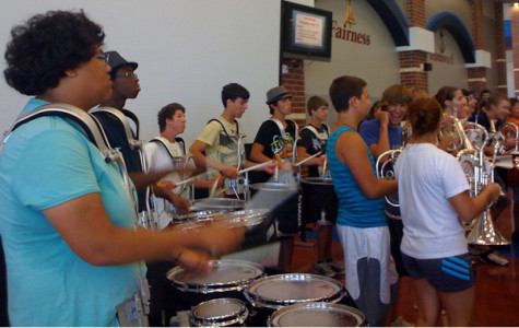 Band performs for staff on final day of inservice