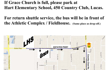 Parking limited at Friday's football game