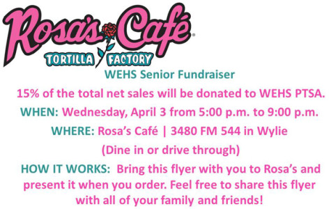 Support the seniors: eat at Rosa's