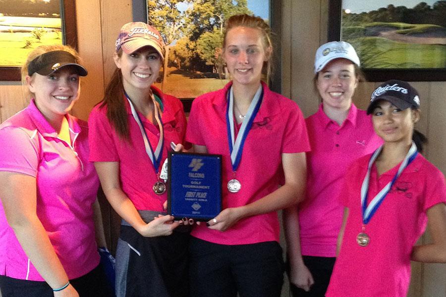 Girls golf wins first place at Firewheel