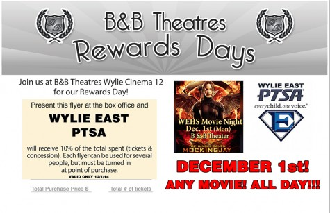 Dec. 1 is movie night