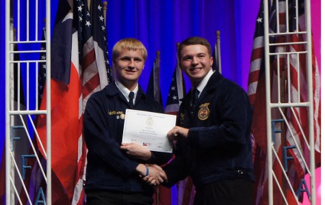 Seniors Brown, Wallis awarded highest degree of FFA