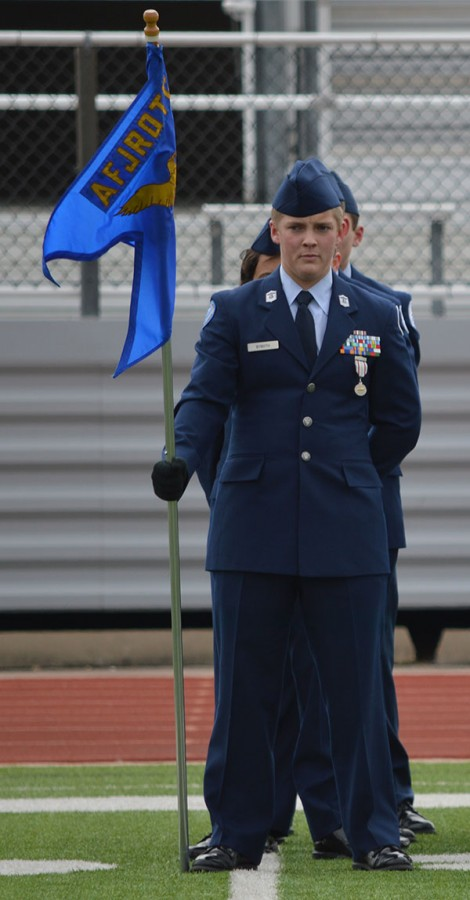 Soaring+Eagle+Scout+%5C%5C+Standing+at+attention+during+the+Veteran%27s+Day+Ceremony+hosted+by+JROTC%2C+sophomore+Austin+Byboth%27s+commitment+and+leadership+helped+him+earn+the+Eagle+Scout+rank+in+Boy+Scouts.+