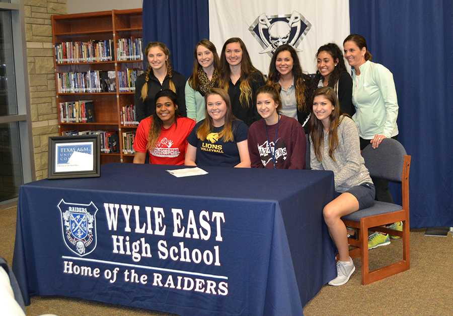 """Sign of your life \\ Volleyball player Kailyn Dennis signs to play at texas A&M Commerce next year. """"She is truly a leader on the court and off,"""