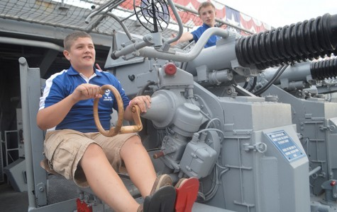 AFJROTC tours, stays on USS Lexington