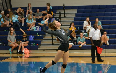 Freshman plays on varsity volleyball