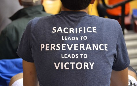 Sacrifice leads to perseverance leads to Victory