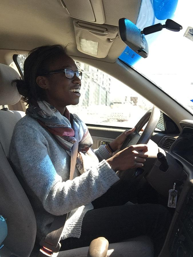 Clock is ticking \\ Junior Temi George rushes to Sonic to get lunch. Sixty minutes is not enough time for off campus lunch.