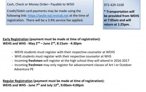 Summer School registration begins May 2