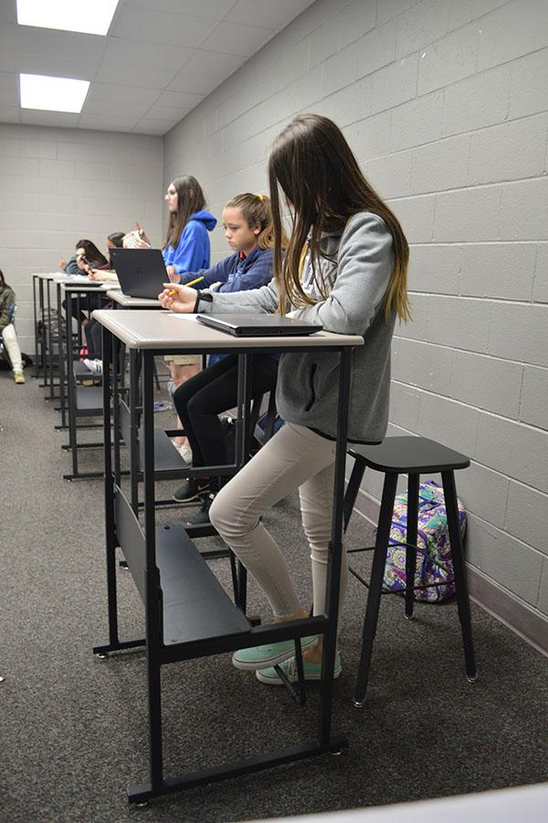 I like to move it, move it \\ Burnett Junior High math teacher Shirin Omidvar wrote a grant for moving desks to help students exert energy to better concentration.