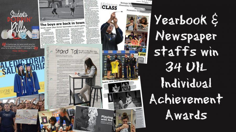Publication staffs win 34 awards at UIL