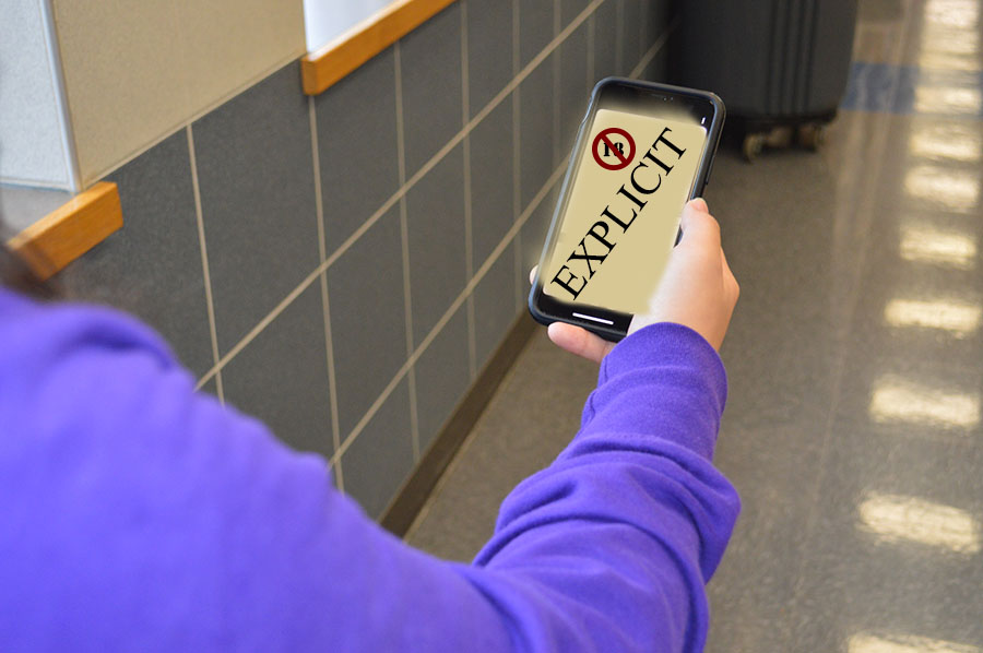 "Just say no \ ""Cell phones to Jail Cells,"" a presentation about the consequences of sexting and cyberbullying, was presented to all students by the district's attorney Feb. 9."