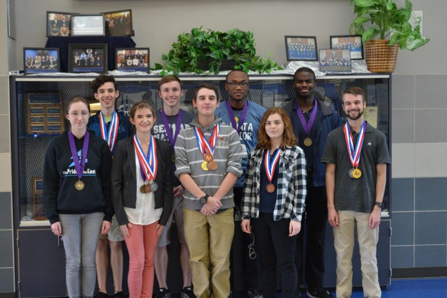 Rocking+Scholars%2F%2F+Dominating+the+state+competition%2C+Academic+Decathlon+earned+11+medals.+Collin+College+held+the+competition+Feb.+23-24+with+the+award+ceremony+the+following+day.+Photo+by+Sammy+Harris