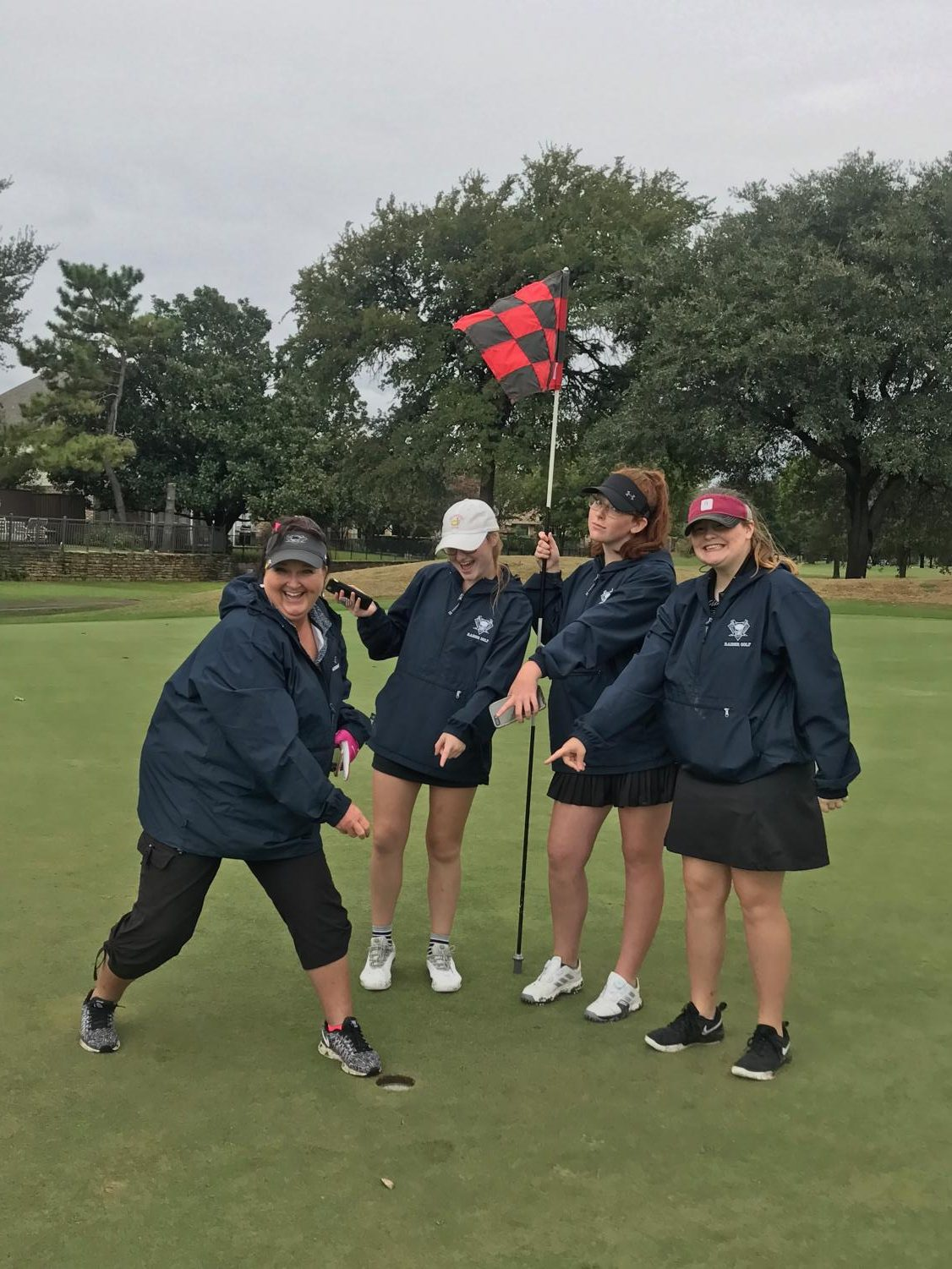 One to remember \\ Head Gold Coach Melinda Black makes a hole in one at the Duck Creek Tournament Sept. 28.