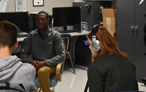 School video news features newspaper program