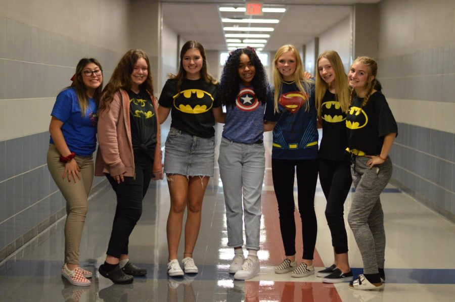 Hero for a day \\ Each day of homecoming is a different dress up date. Superhero Day was Tuesday, Oct. 15.