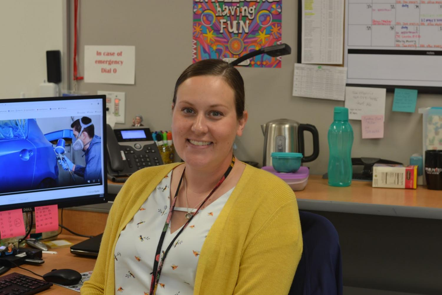 """Future plans \\ Her high school teacher and a Future Teacher Program inspired Engineering Teacher Mrs. Christina Sweek to become a teacher. """"I want to help my students to find out whether they want to be an engineer in the future or not,"""" Mrs. Sweek said."""