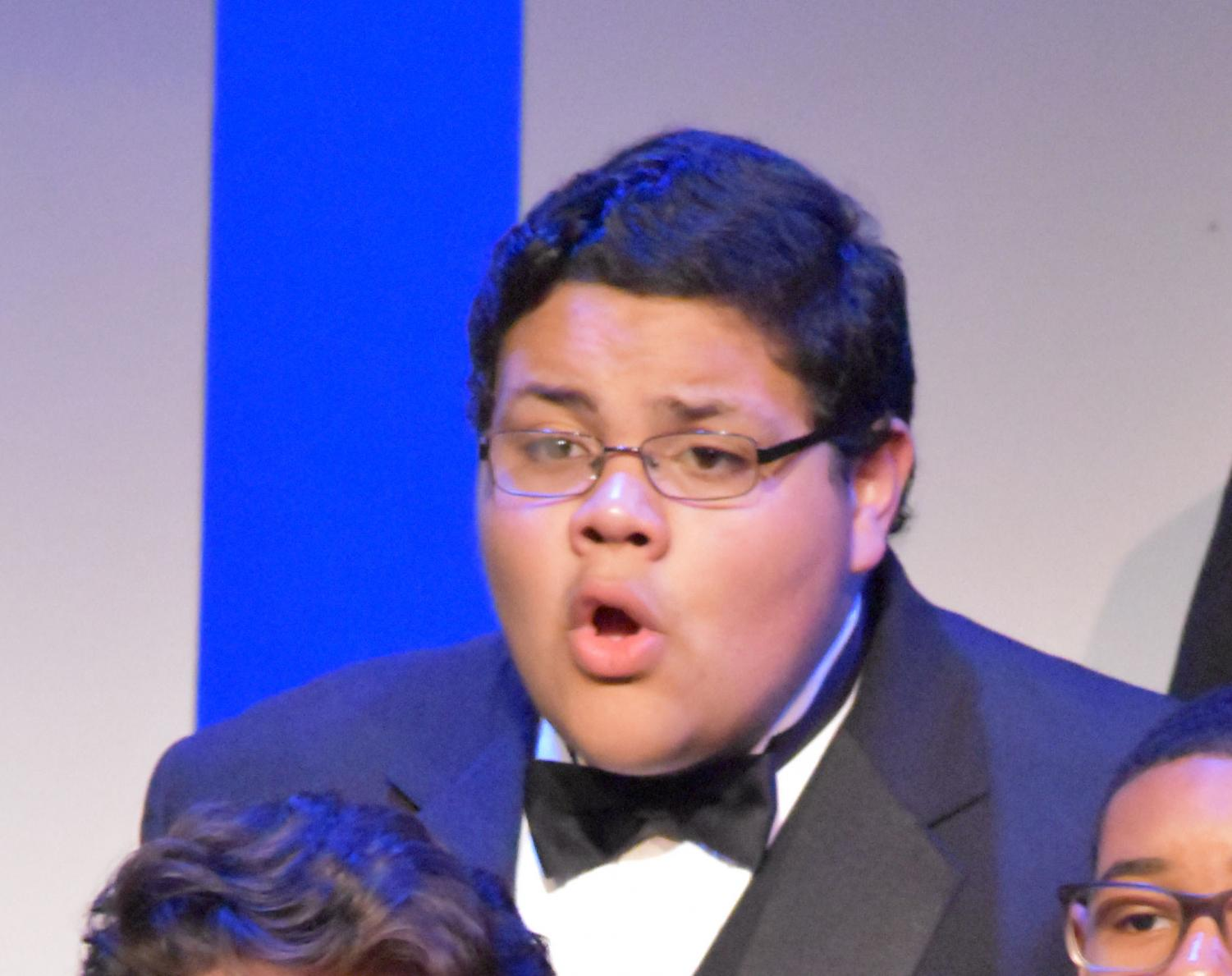 He's not just a homecoming prince. sophomore Luis Lopez is full of talent.