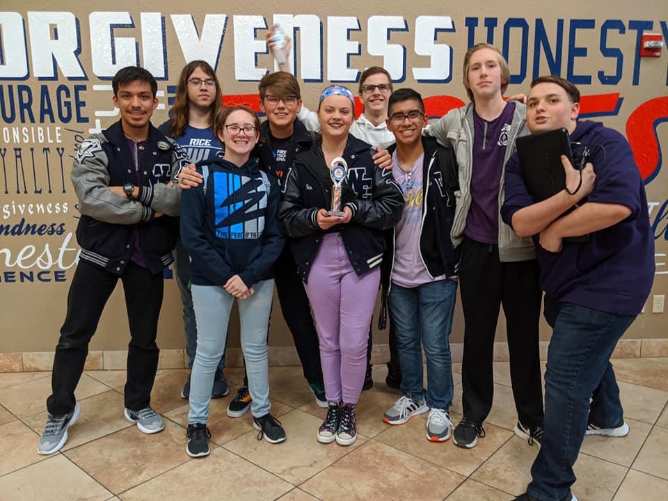 From left to right: Eliel Cortez, Jack Volpi, Kaleigh Adams, Nathan Goff, Trinity Gibson, Josh Stephens, Esteban Figueroa, Jaxon Etmus, Joseph Morgan.