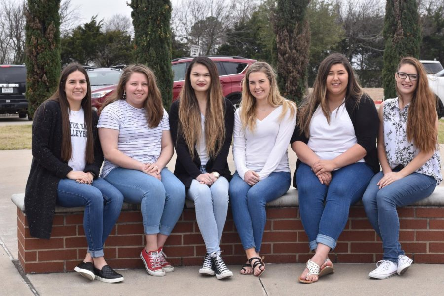 Leading the way \\ The Volume XII yearbook leadership team consists of sports editor Lauren Vasquez, people editor Melissa Wrobel, editor in chief Maddie Smith, assistant editor in chief Emily Wygant, assistant sports editor Whitney Tobias and clubs editor Addie Orr.