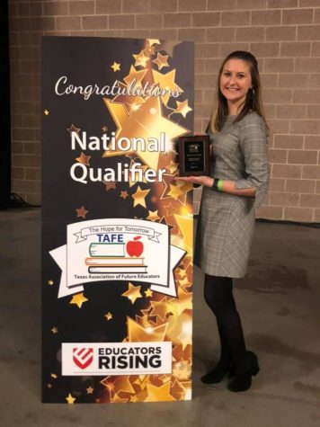 Twice as nice \\ Senior Mia Stuart advances to nationals for the second year in a row with Texas Association of Future Educators.