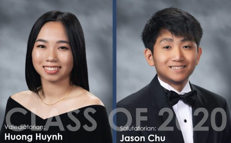 Best of \\ Seniors Huong Huynh  and Jason Chu are the Class of 2020 valedictorian and salutatorian, respectively.
