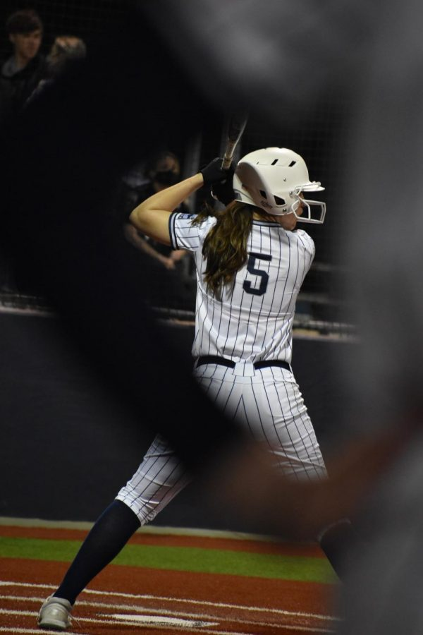 Last chance \\ Senior outfielder Jaylie Sibley is the last hope in a back and forth game against district 15-5A power house Lovejoy Leopards. The Leopards stayed ahead and won 2-1 March 10. Varsity's next district game is Tuesday March 16 at The Colony.