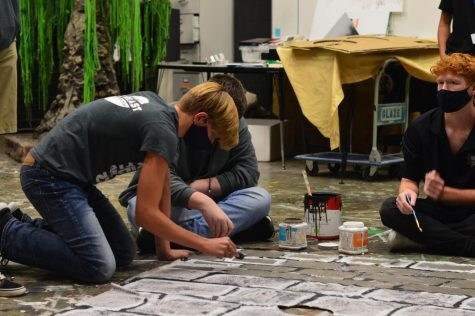 Setting a scene // Painting the set for the upcoming show, Midsummer Night