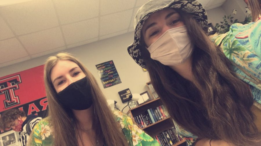 Mask with a task \ Governor Greg Abbott's mandate requiring face coverings seems to have no end in sight; however, masks have benefits such as allowing students to return to school and covering up those unwanted blemishes.