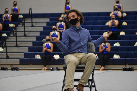 "Raider Rallier // Senior Carter Pohlmeier narrates the first online recorded pep rally of the school year, included in the pep rally was the debut of his song, Masterpiece. ""Music is my favorite thing. I listen to everything that I can get a hold of,"