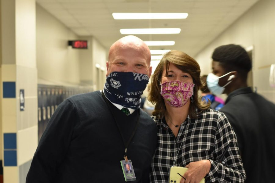 Super subs \ Walking the halls during passing periods, superintendent Dr. David Vinson and Dr. Kim Spicer, take over for the school's administrative team who were exposed to COVID-19 coronavirus the week of Nov. 30.