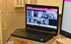 """Screen time \\ Meeting virtually, the Diversity Club is led by Mrs. Jill Hill and Mrs. Patti Newton. """"We pride ourselves on being an open space anyone can look towards for community service and encourage activism in those who wish to use their voice for what they believe is right,"""" President Jocelyn Blouke said."""