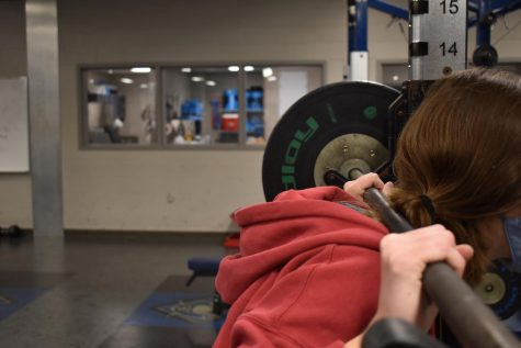 Raise the bar \\ Girl athletes at this school work out hard in the weightroom and can complete all types of workouts. While seen as inferior, female athletes work just as hard as males do, and should be treated as such.