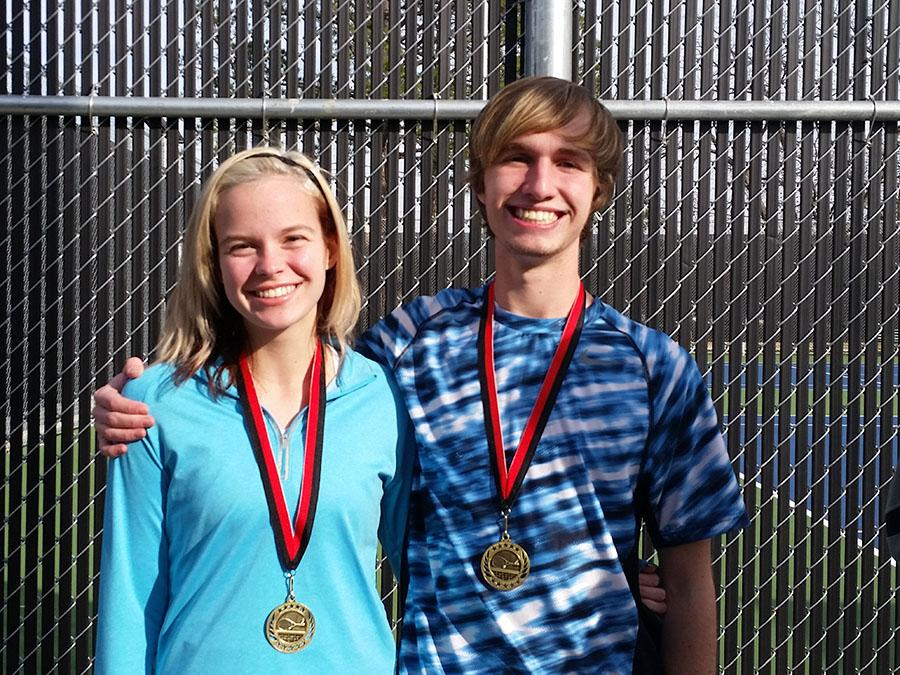 Aaron cordon and Riley Boyd won the consolation division against Wylie High at the Argyle Invitational.