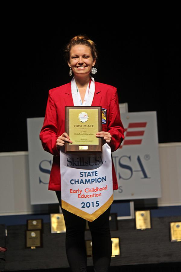 State champ \\ Senior Christie Reid is the state champion in Early Childhood Education.