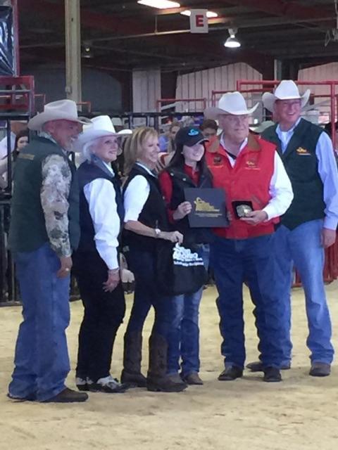 Senior Shyann Holley wins a $10,000 scholarship at the San Antonio Livestock show.