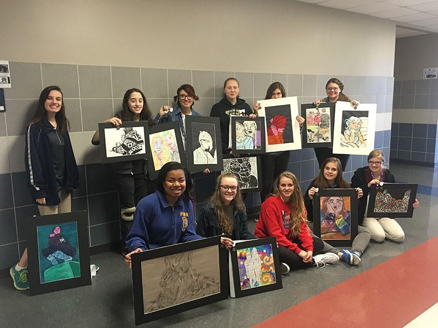 Art students competed in the annual Vase competition.