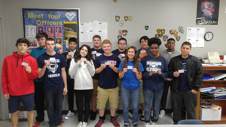 Mr. Lanman's fourth period Law Enforcement I class earned their American Heart Association / CPR certification.