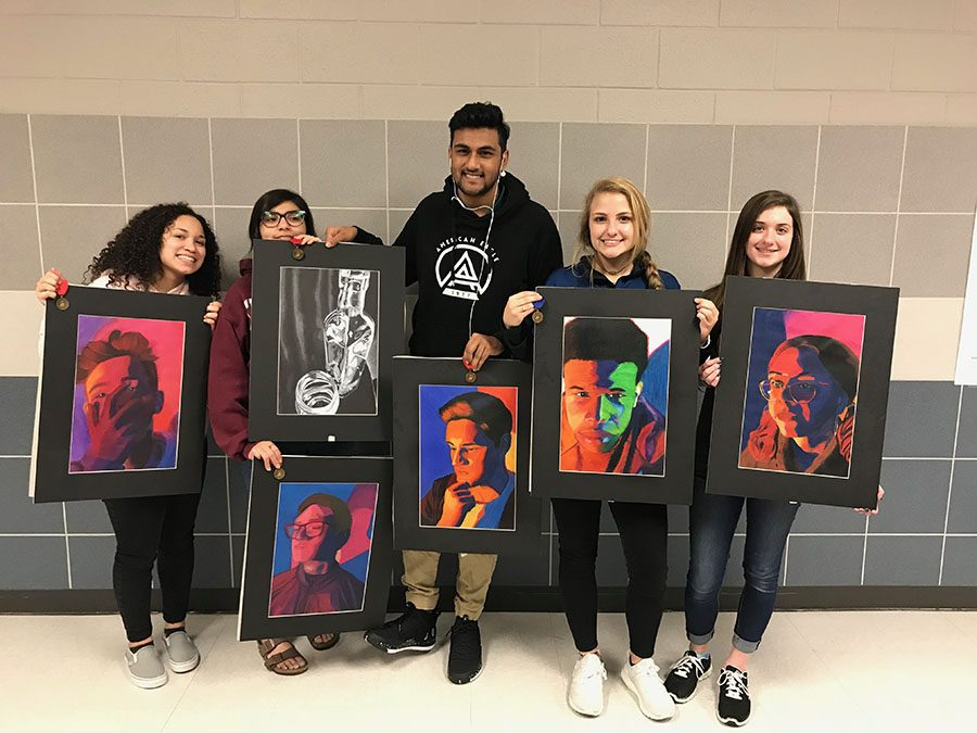 Showcase \\ National Art Honor Society students entered their work into the Visual Arts Scholastic Event.