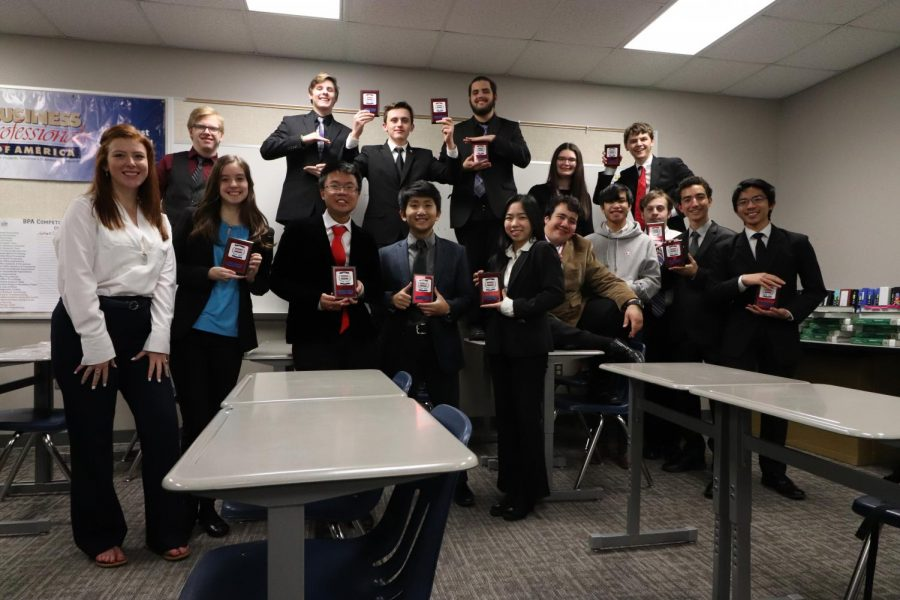 Top of the class \\ Business Professionals of America students placed fifth at the Regional Leadership Conference at Reedy High School Jan. 19.