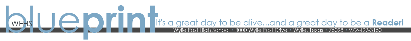 The mission of the Wylie East High School news site is to inform, educate and entertain readers. Established Jan. 13, 2011. Principal: Mrs. Tiffany Doolan; Adviser: Mrs. Casi Thedford