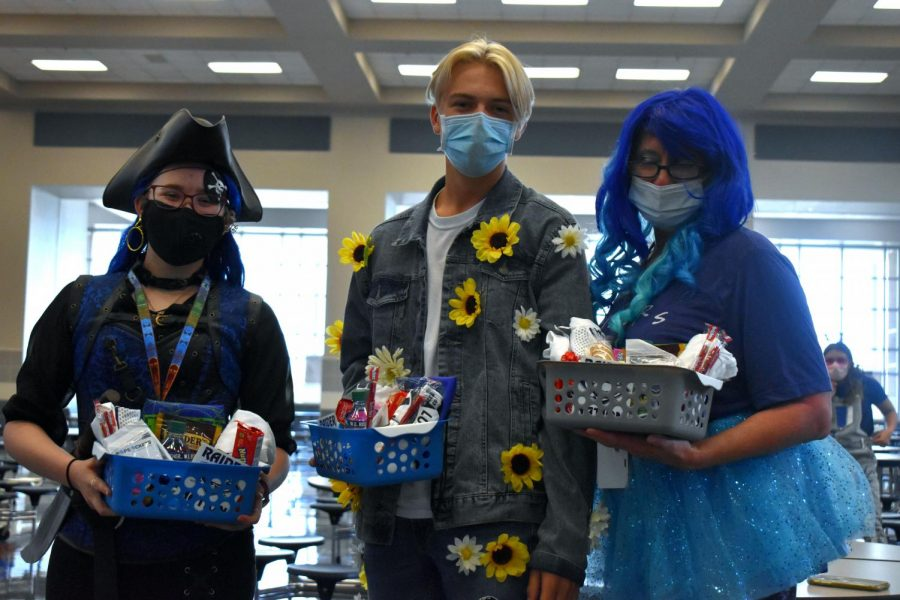 Back in blue \\ After serious contemplation, the principals selected the 2020 winners of the Ultimate Raider Contest during third period Sept. 25. A girl, a boy and a teacher each earned a basket full of goodies from Student Council.