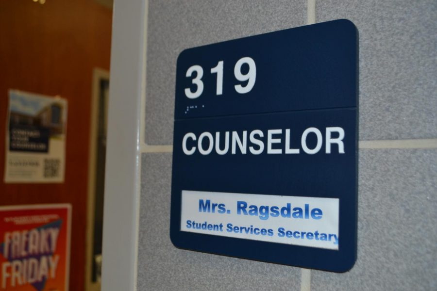 To the office \\ The counselors' offices are located in room 319 along the main hallway. Students can make an appointment through Mrs. Ragsdale to see their counselor.